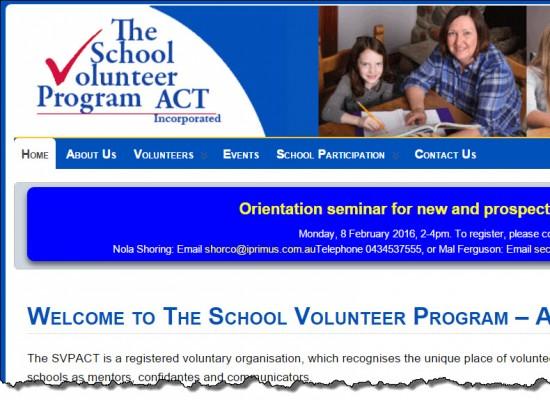 School Volunteer Program – ACT