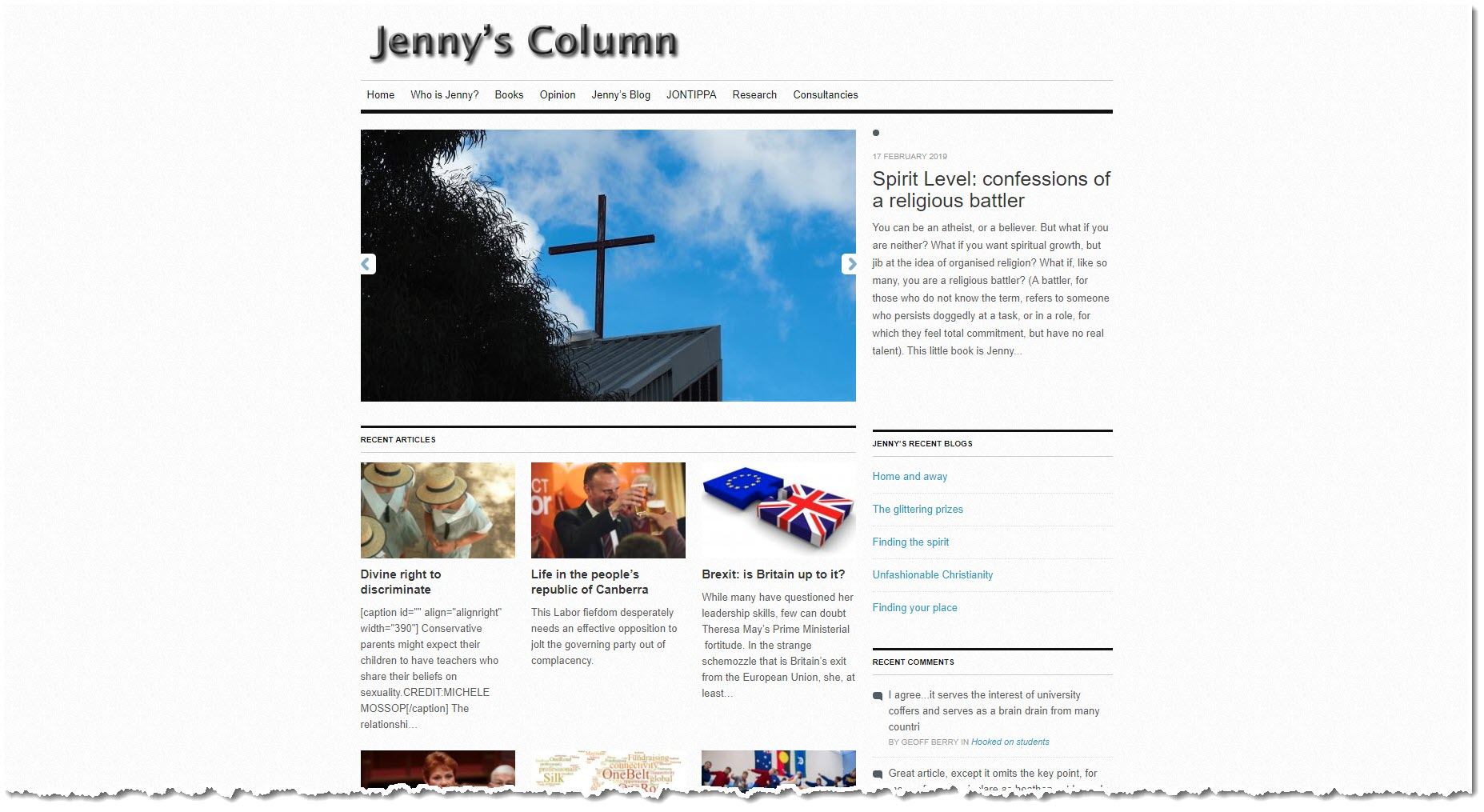Jenny's Column