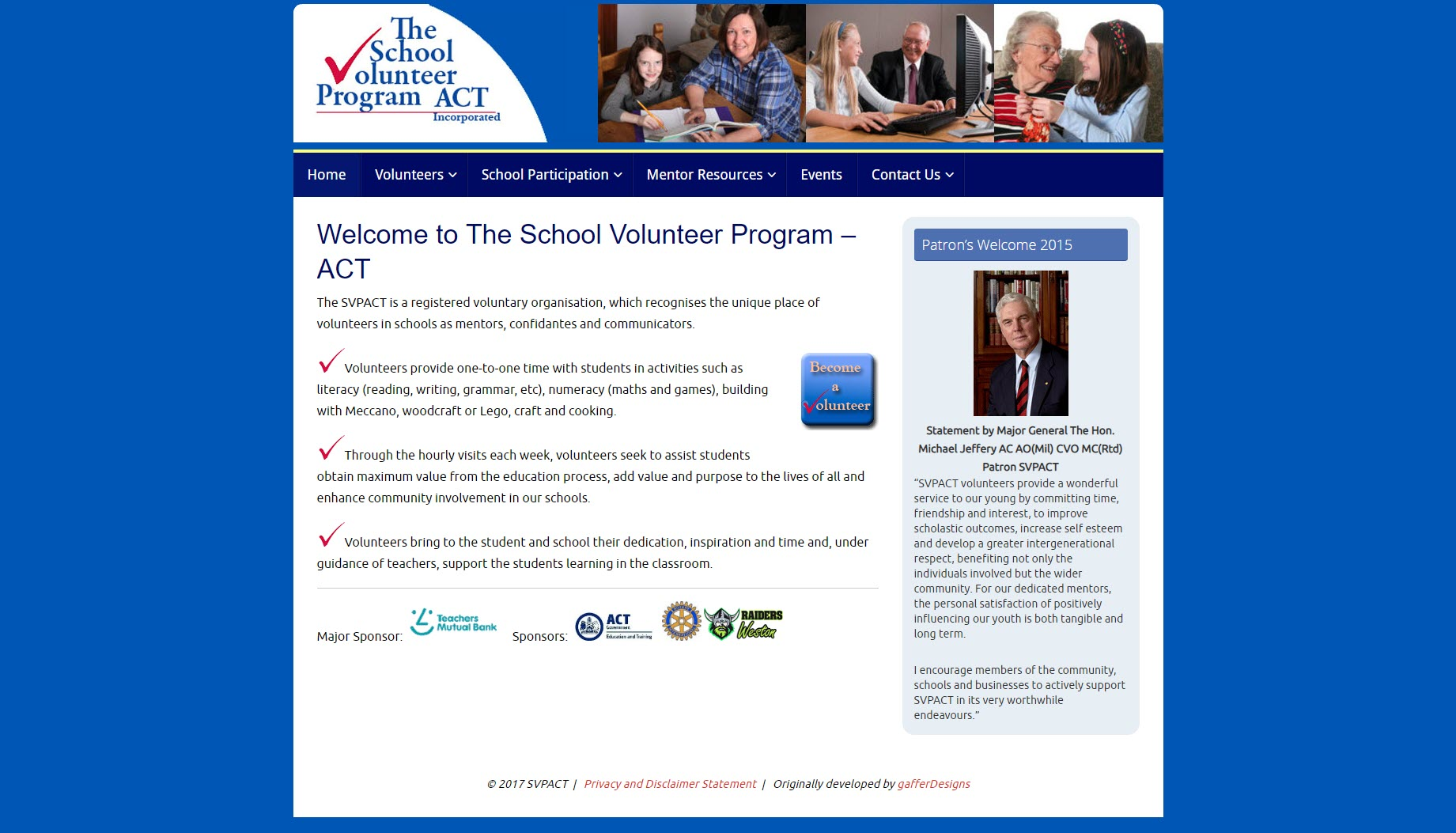 School Volunteer Program ACT